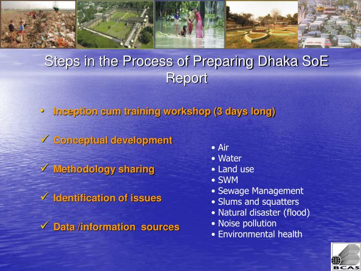 Steps in the process of preparing dhaka soe report1