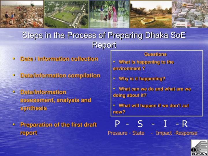 Steps in the Process of Preparing Dhaka SoE Report