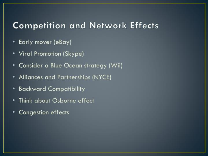 Competition and Network Effects
