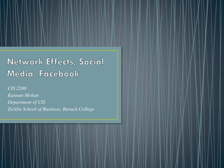 Network effects social media facebook