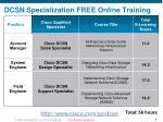 dcsn specialization free online training