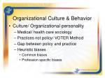 organizational culture behavior1