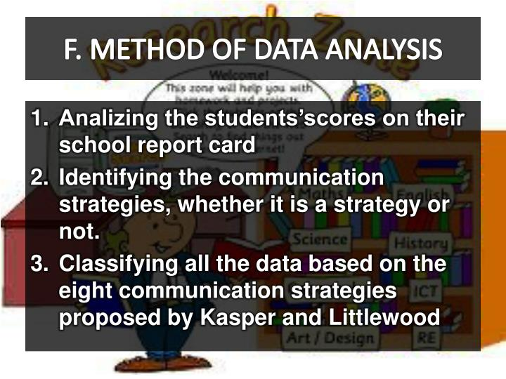 F. METHOD OF DATA ANALYSIS