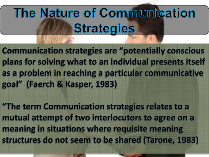 The Nature of Communication Strategies