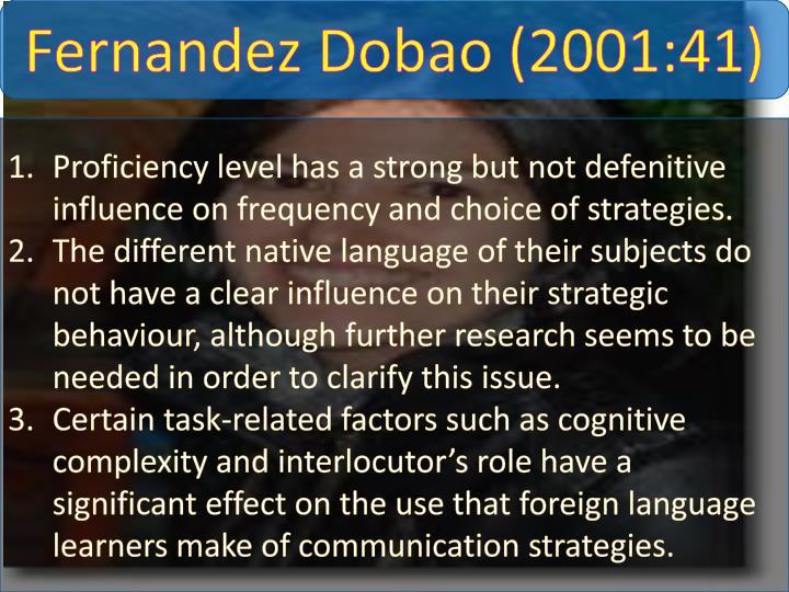 Fernandez Dobao (2001:41)