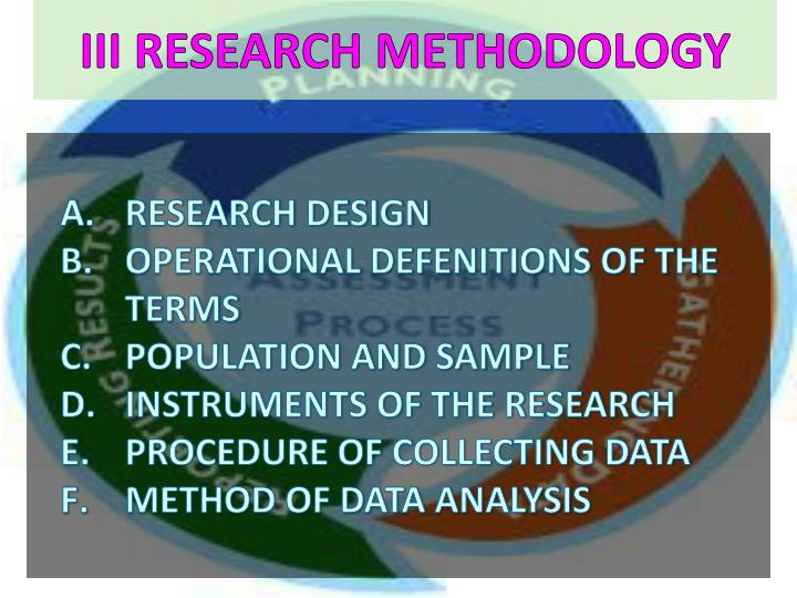 III RESEARCH METHODOLOGY