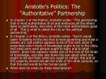 aristotle s politics the authoritative partnership