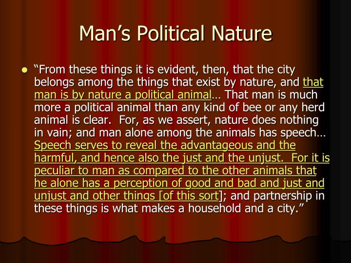Man's Political Nature