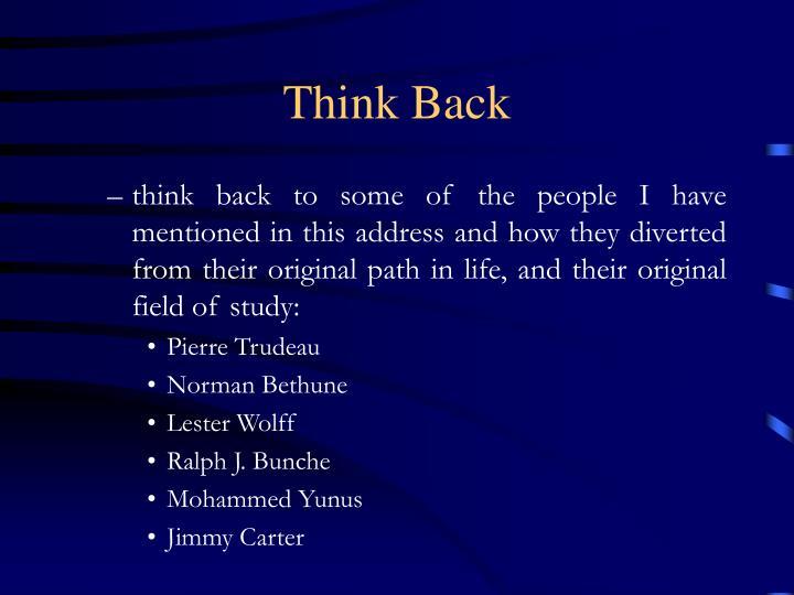 Think Back