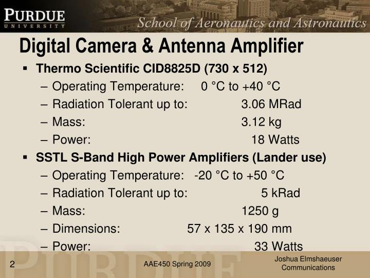 Digital camera antenna amplifier
