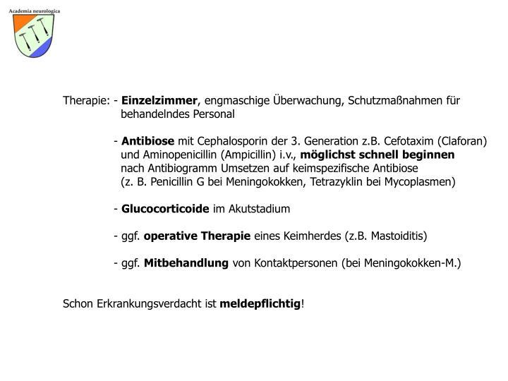 Therapie: -