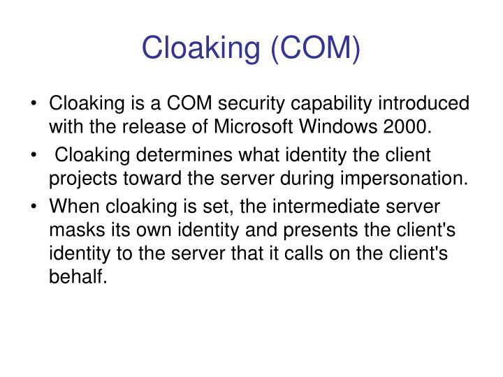 Cloaking (COM)