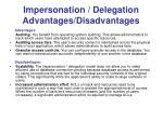 impersonation delegation advantages disadvantages
