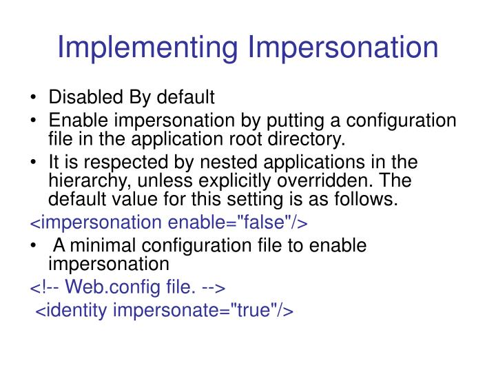 Implementing Impersonation