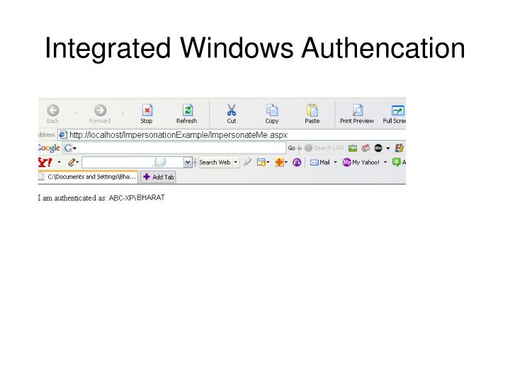 Integrated Windows Authencation