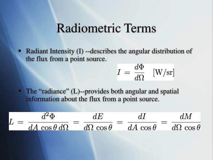 Radiometric Terms