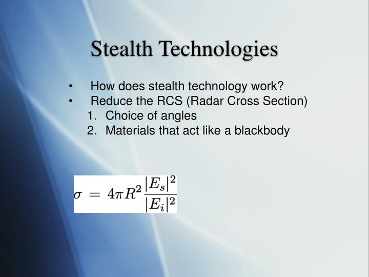 Stealth Technologies