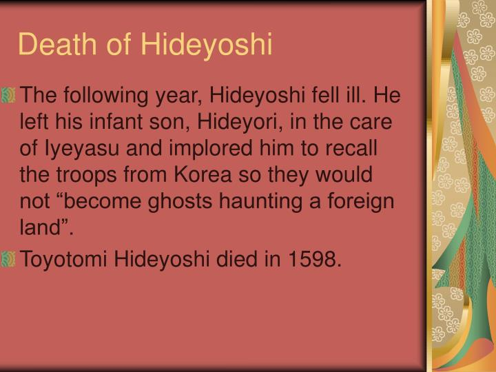 Death of Hideyoshi