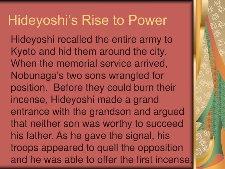 Hideyoshi's Rise to Power
