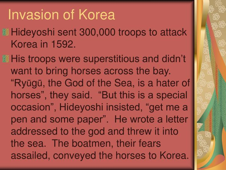 Invasion of Korea