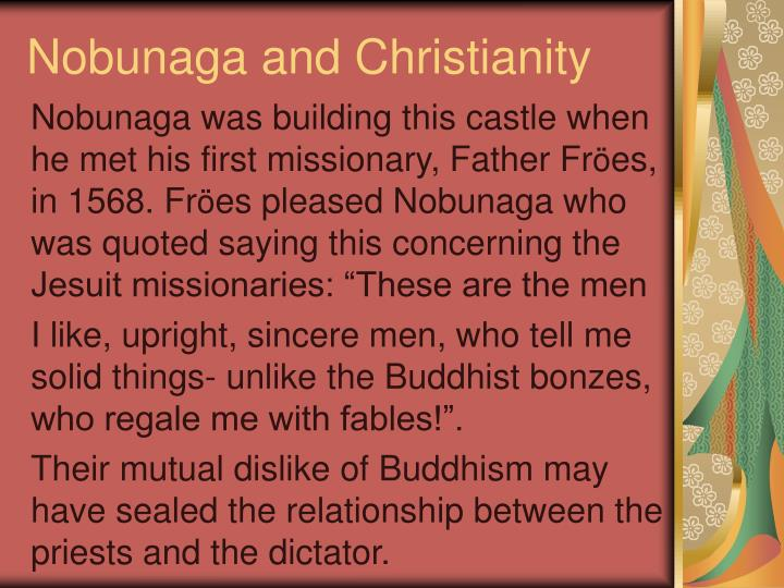 Nobunaga and Christianity