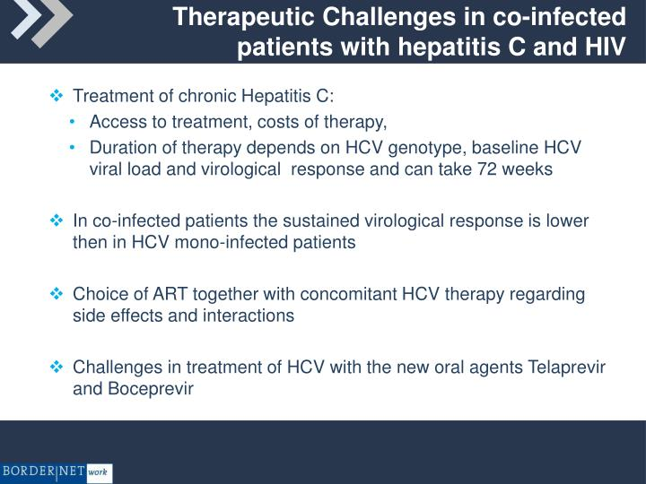 Therapeutic Challenges in co-infected