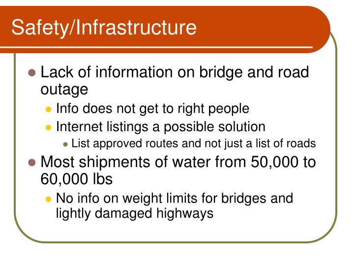 Safety/Infrastructure
