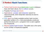 3 perfect hash functions