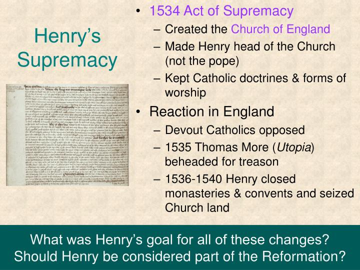 1534 Act of Supremacy