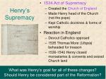 henry s supremacy