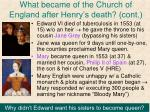 what became of the church of england after henry s death cont