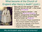 what became of the church of england after henry s death cont1
