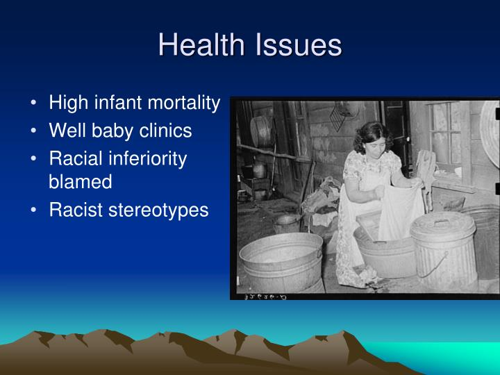 High infant mortality