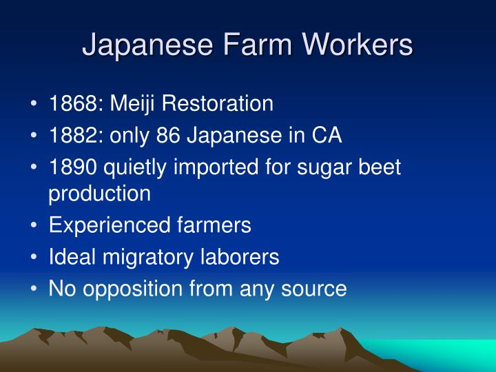 Japanese farm workers