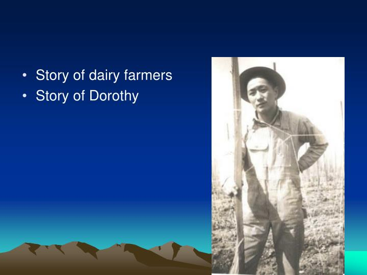 Story of dairy farmers