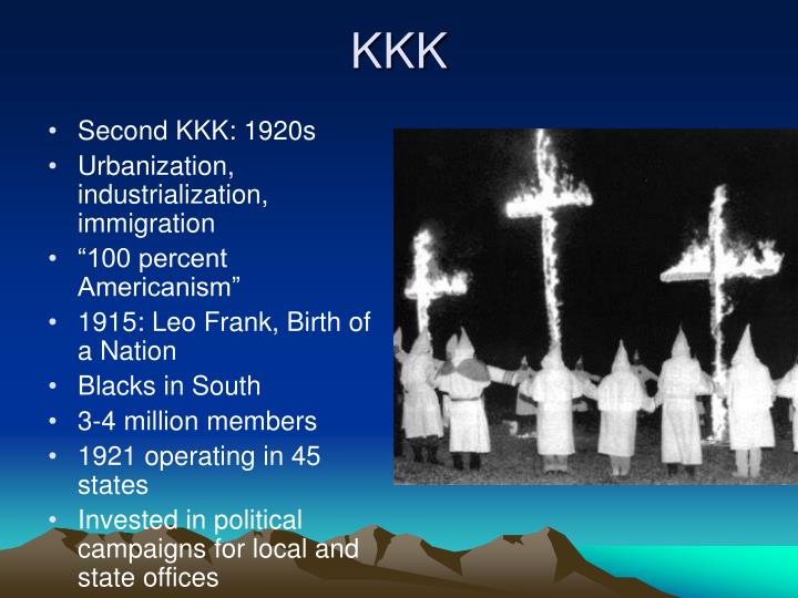 Second KKK: 1920s