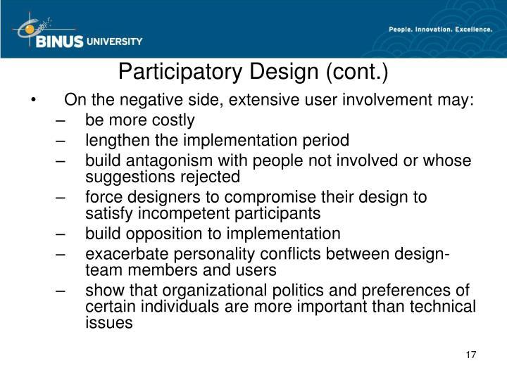 Participatory Design (cont.)