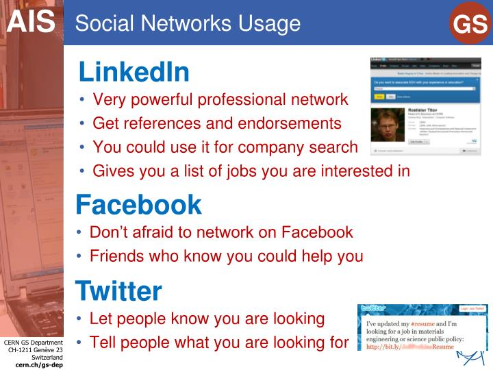Social Networks Usage