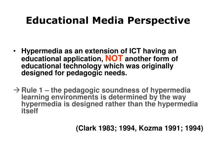 Educational Media Perspective