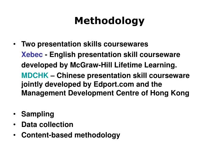 Two presentation skills coursewares