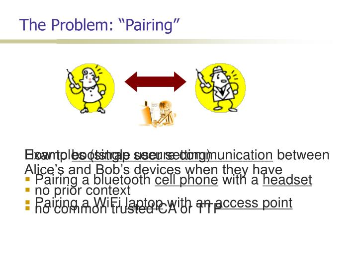 The problem pairing