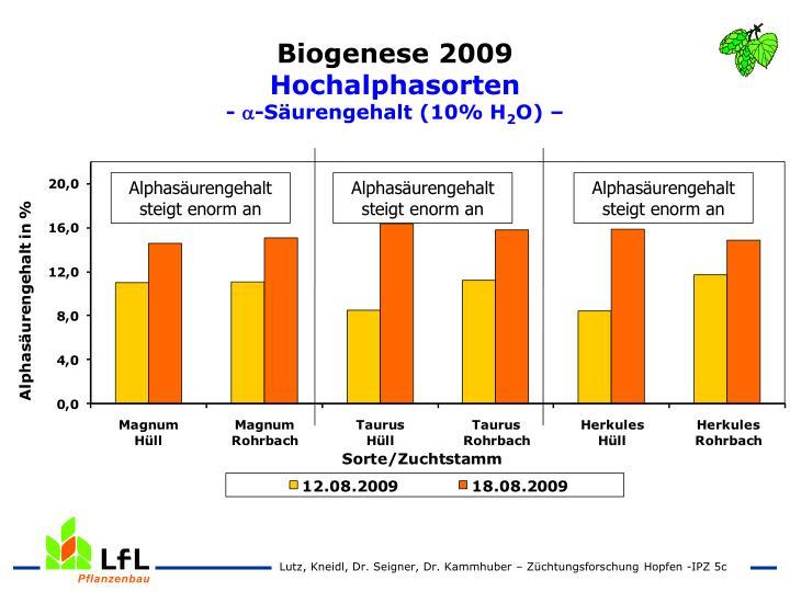 Biogenese 2009