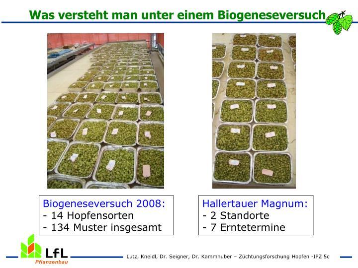 Was versteht man unter einem Biogeneseversuch