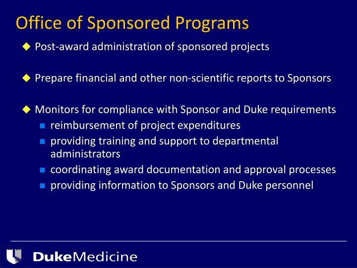 Office of Sponsored Programs