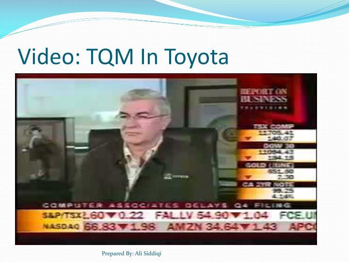 Video: TQM In Toyota