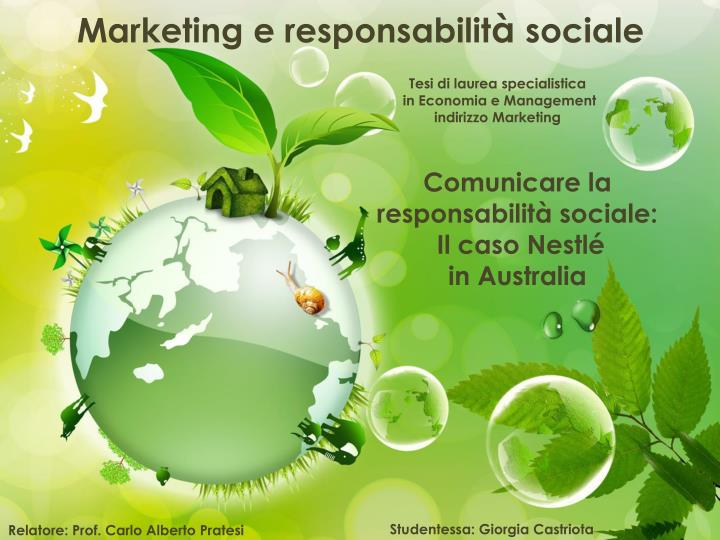 Marketing e responsabilit
