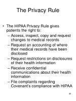 the privacy rule