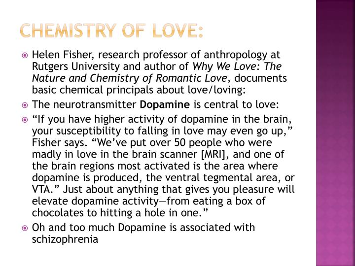 Chemistry of Love: