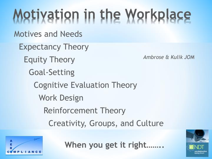 Motivation in the Workplace