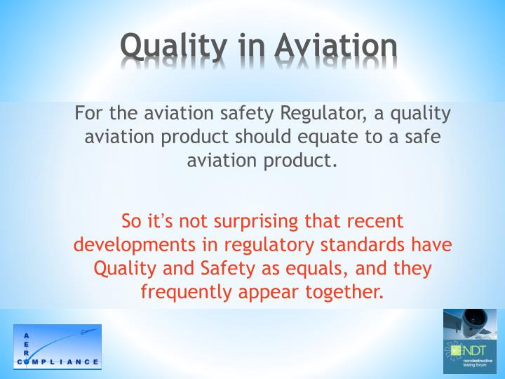 Quality in Aviation